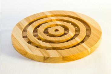 Ring shaped beech trivet 19ø cm