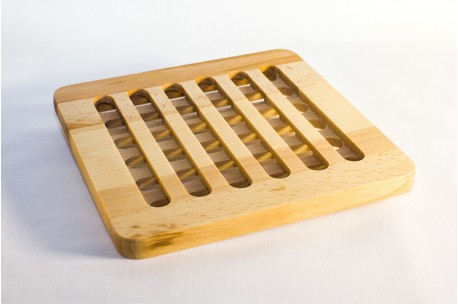 Square shaped beech trivet 19x19 cm