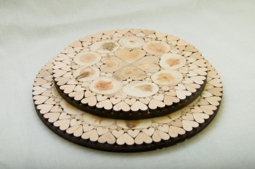 Trivet with hearts 15-18 cm