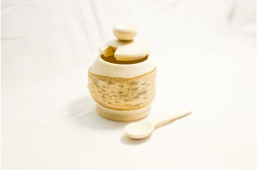 Birch salt container