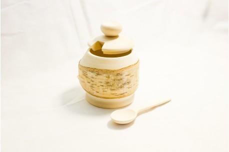 Birch salt container