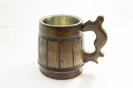 Beer mug with metal inside 0,5 L