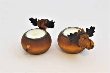 Moose candle holder
