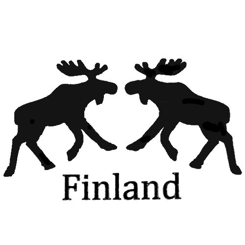 Two moose Finland